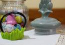 Speciale di Pasqua: cestino-prato di cioccolata