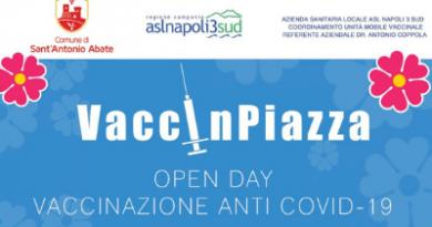 """Open Day Pfizer e Moderna: oggi """"VaccinPiazza"""" a Sant'Antonio Abate"""